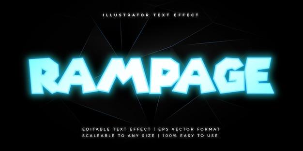 Efeito de fonte de estilo de texto de título de filme neon