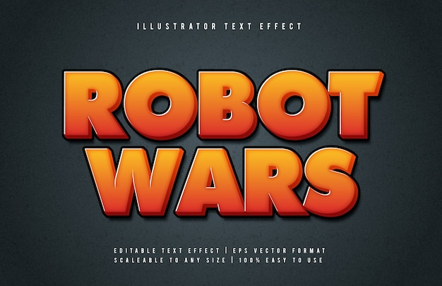Efeito de fonte de estilo de texto de título de jogo laranja