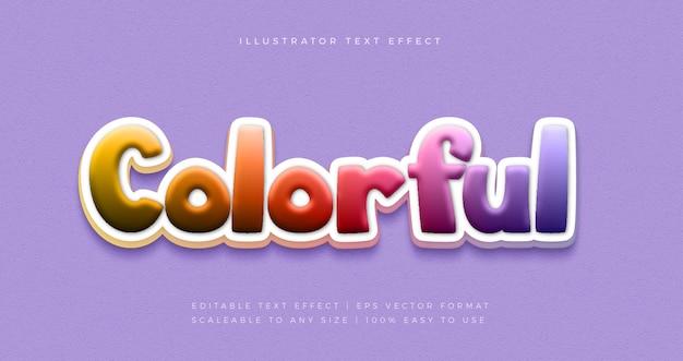 Efeito de fonte de estilo de texto divertido de festa colorida