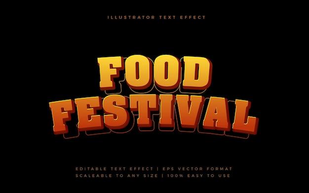 Efeito de fonte de estilo de texto do festival de culinária