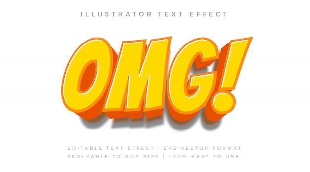 Efeito de fonte de estilo de texto em quadrinhos laranja