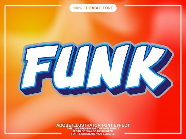 Efeito de fonte de estilo de texto funky moderno bold (realce)