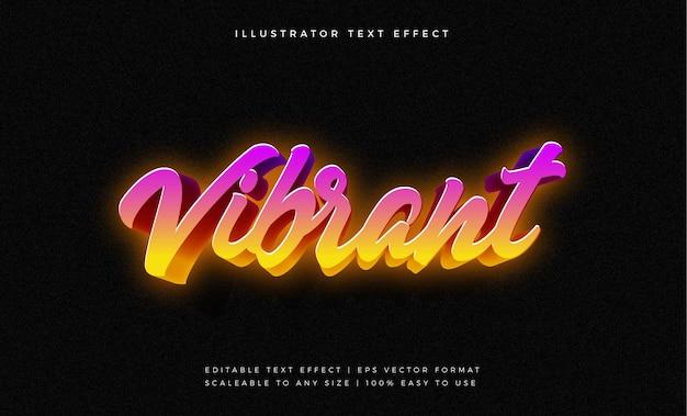 Efeito de fonte de estilo de texto retrô miami vibe Vetor Premium
