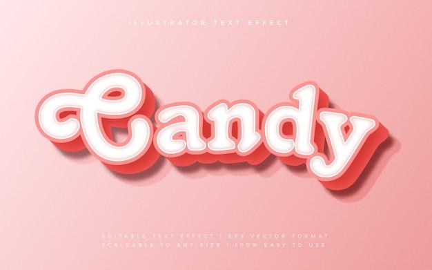 Efeito de fonte de estilo de texto sweet candy