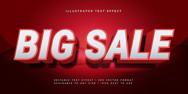 Efeito de fonte de estilo de texto vermelho grande venda
