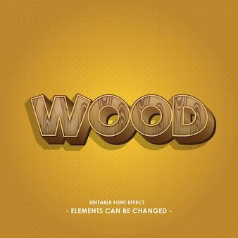 Efeito de fonte de madeira
