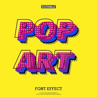 Efeito de fonte de pop art moderno