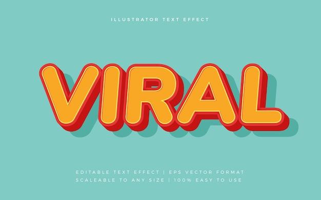 Efeito de fonte de texto de estilo colorido viral