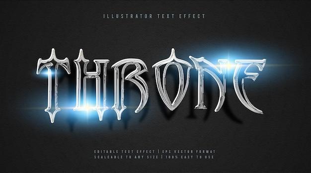 Efeito de fonte de texto de filme silver throne