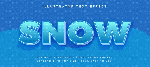 Efeito de fonte de texto de inverno neve