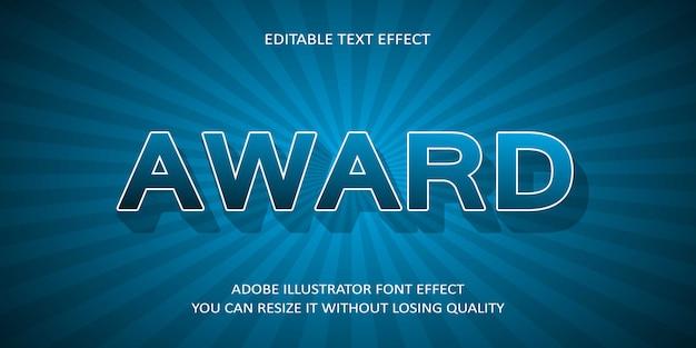 Efeito de fonte de texto de prêmio