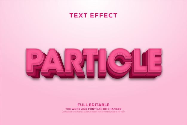 Efeito de fonte de texto editável rosa