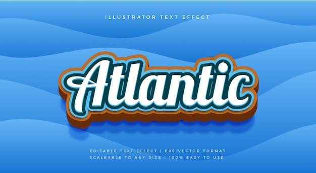 Efeito de fonte do estilo de texto do atlântico do mar