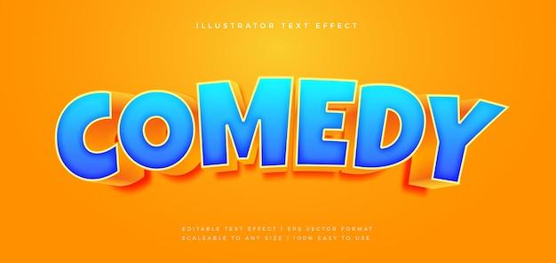 Efeito de fonte do estilo do texto do título do filme de comédia