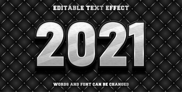 Efeito de fonte editável de 2021