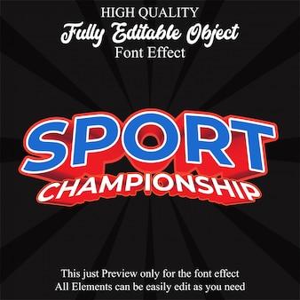 Efeito de fonte editável de estilo de texto moderno esporte
