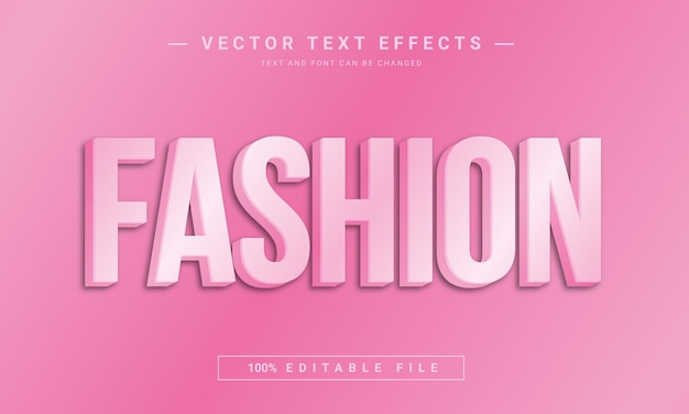 Efeito de fonte editável de moda