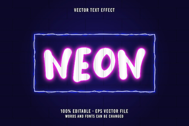 Efeito de fonte editável de texto neon