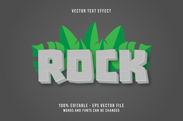 Efeito de fonte editável de texto rock