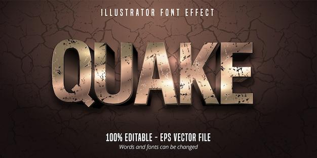 Efeito de fonte editável do estilo quake
