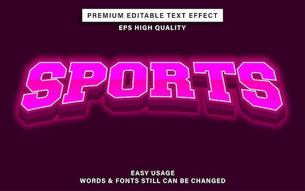 Efeito de fonte editável - esportes