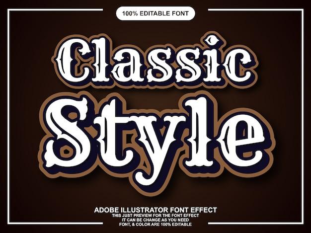 Efeito de fonte estilo vintage clássico