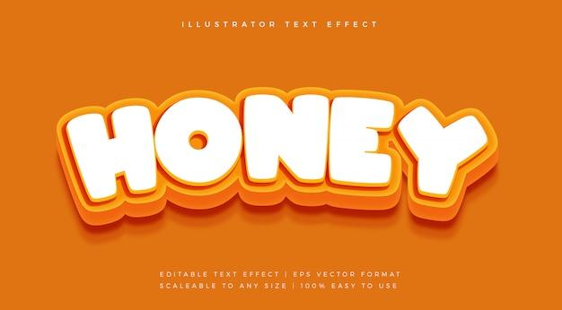 Efeito de fonte honey tasty text style
