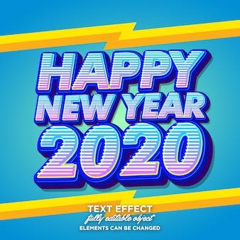 Efeito de fonte moderna para feliz ano novo cartão
