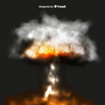 Efeito de fumaça de bomba de borrão realista