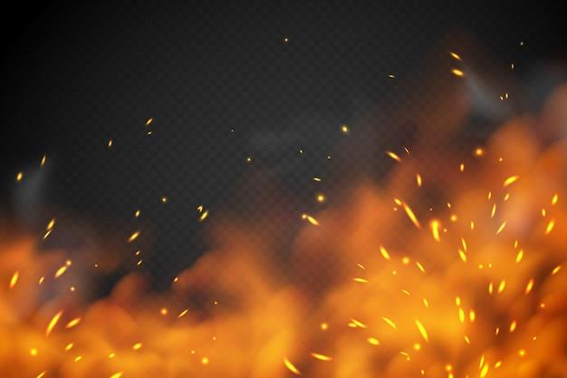 Efeito de fumaça de fogo