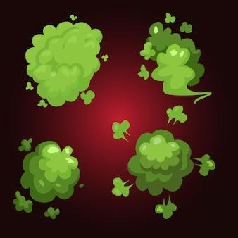 Efeito de fumaça fedido verde