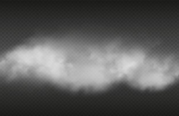 Efeito de fumaça. fumaça realista ou em fundo transparente
