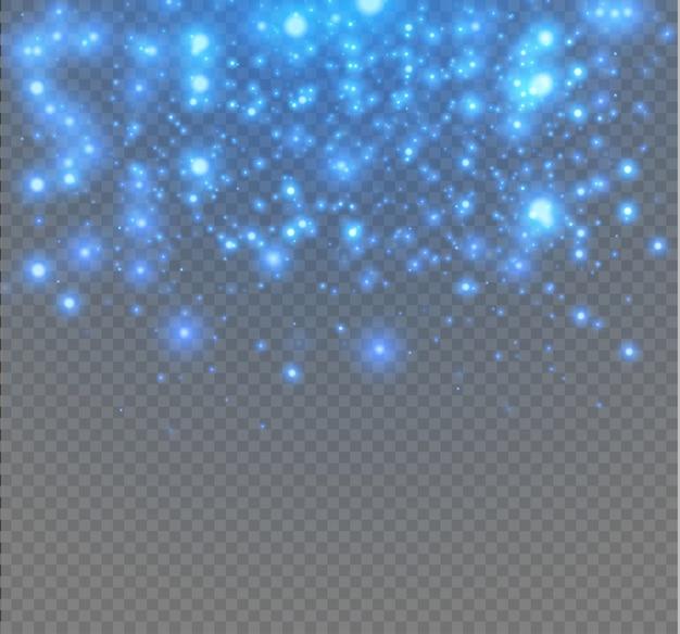 Efeito de fundo de partículas de brilho para cartão rico de luxo. pó de estrelas faíscas