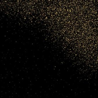 Efeito de fundo de partículas de brilho para cartão rico de saudação de luxo