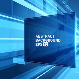 Efeito de grade abstrato do espaço da realidade virtual 3d do fundo.