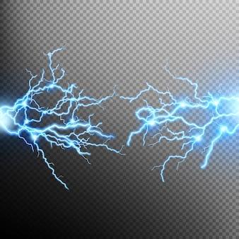 Efeito de iluminação elétrica.