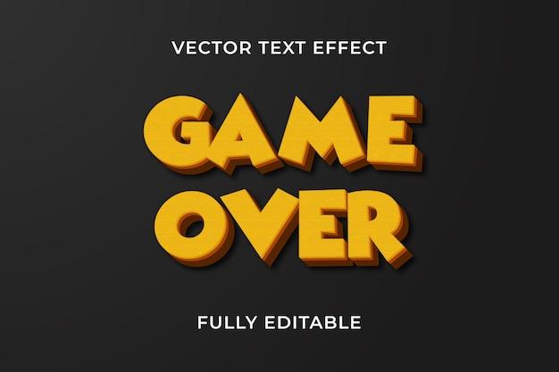 Efeito de jogo sobre texto