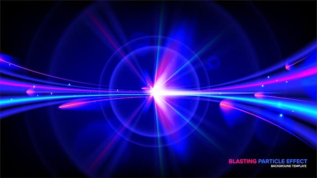 Efeito de luz abstrata em vetor