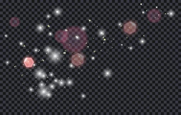 Efeito de luz abstrato do bokeh da poeira brilhante rosa. ilustração de estoque vetorial