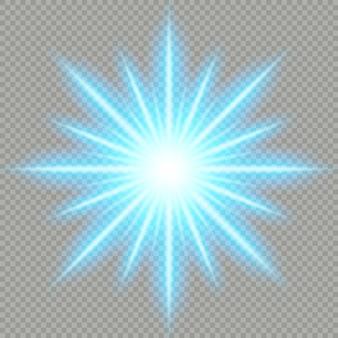 Efeito de luz azul futurista. arquivo
