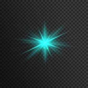 Efeito de luz azul