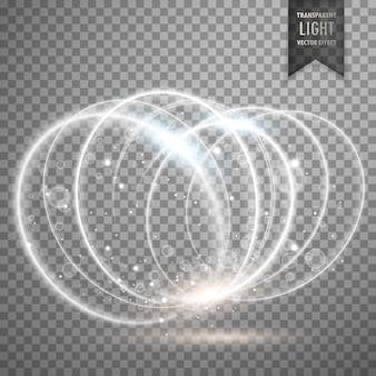 Efeito de luz branca anéis de fundo