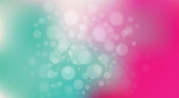 Efeito de luz brilhante bokeh abstrato rosa e fundo verde-azulado