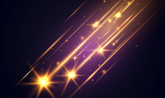 Efeito de luz brilhante. brilho de néon e fundo flash.