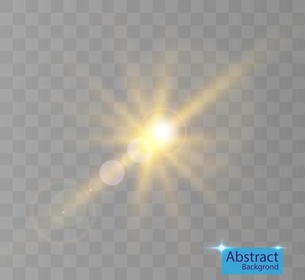 Efeito de luz brilhante com destaques.