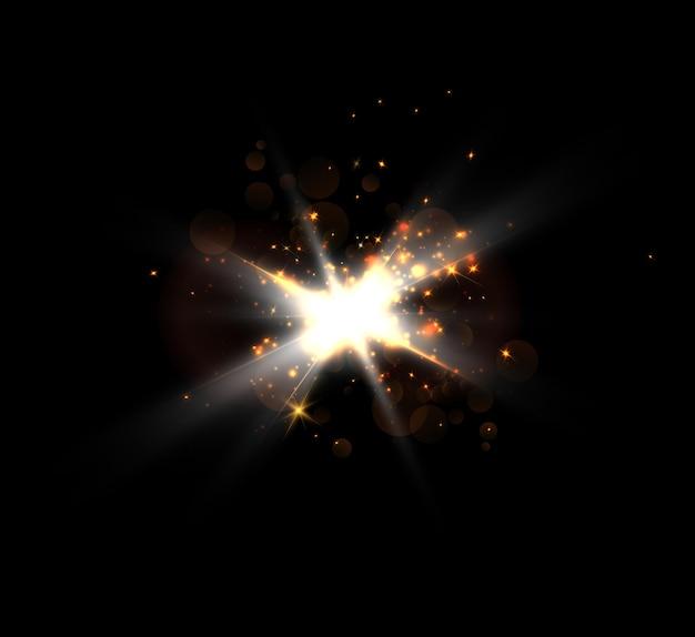Efeito de luz brilhante com destaques