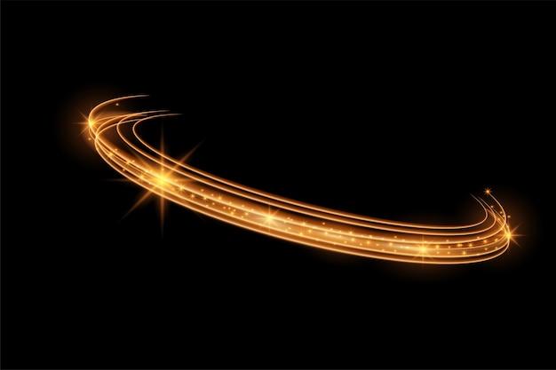 Efeito de luz brilhante e circular. linha de incandescência rotativa.glowing ring trace background. moldura redonda com luzes vintage brilhantes. vetor de redemoinho espumante mágico
