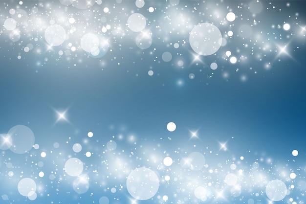 Efeito de luz brilhante em fundo azul