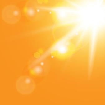Efeito de luz brilhante explosão de estrela com brilhos ilustração do vetor do sol