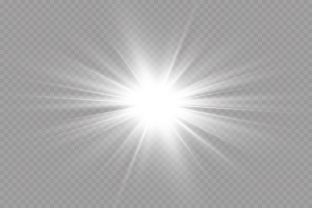 Efeito de luz brilhante. ilustração. flash de natal. queda de neve. decoração.